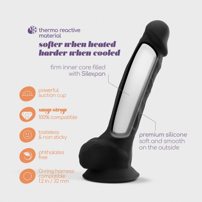 "BOTTOM LINE MODEL 1 5"" RUBBER VIBRATING BUTT PLUG BLACK"